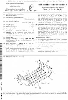 Conveyor belt patent