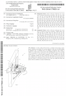 Solar cooker patent