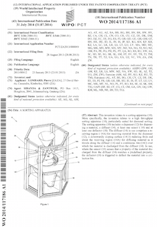 Sorting machine patent