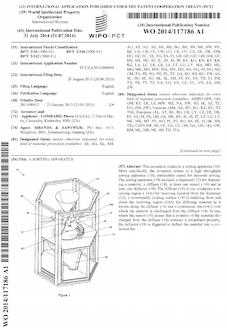 Sorting machine patent