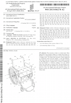 Wheelchair patent
