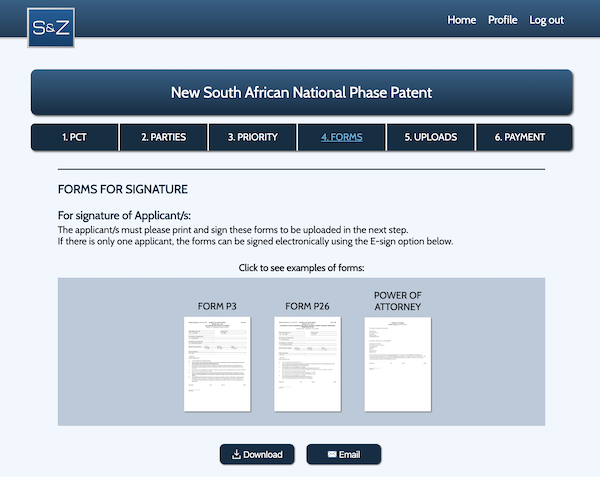 GlobalIPCo Patent Management System Forms